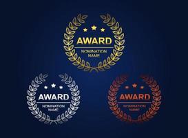 Award Logotype with Laurel Wreath vector