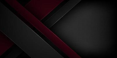 Fondo de vector abstracto negro con características superpuestas.