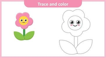 Trace and Color Flower vector