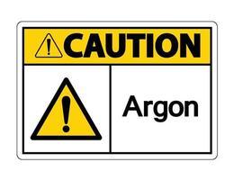 signo de símbolo de argón de precaución vector