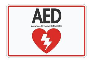 Symbol AED Sign label on white background vector