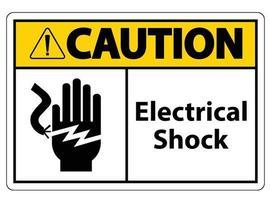 Signo de símbolo de electrocución de descarga eléctrica, ilustración vectorial, aislar en la etiqueta de fondo blanco .eps10 vector