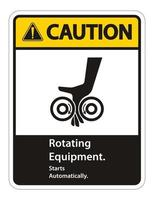 Rotating Equipment.Starts Automatically Symbol Sign Isolate on White Background,Vector Illustration vector