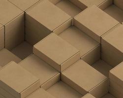 Cardboard packages arrangement photo