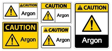 Caution Argon Symbol Sign Isolate On White Background,Vector Illustration EPS.10 vector