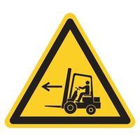 Forklift Point Left Symbol Sign, Vector Illustration, Isolate On White Background Label .EPS10