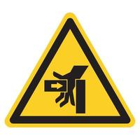Hand Crush Force From Left Symbol Sign, Vector Illustration, Isolate On White Background Label .EPS10