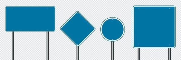 Symbol set sign road blue on transparent background vector