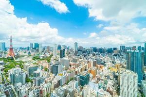 horizonte de la ciudad de tokio en japón foto