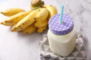 Bananas and milk photo