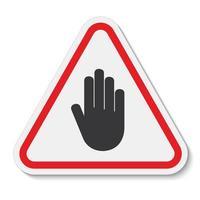 No ingrese el símbolo signo aislar sobre fondo blanco, ilustración vectorial vector