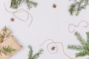 Christmas decorations frame background photo