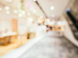 Abstract defocused shopping mall for background photo