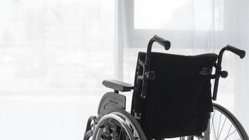 primer plano, de, silla de ruedas foto