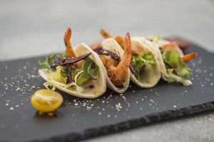 Close-up shrimp dish photo