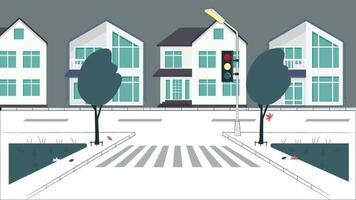 semáforo e vento na rua