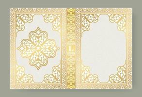 Ornamental book cover design vector