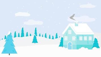 clima nevado y la casa video