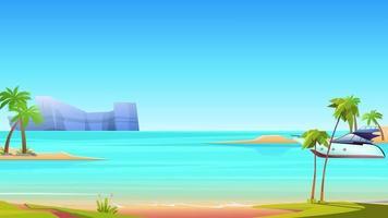 das Boot und die windige Insel video