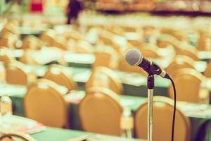 Microphone in meeting room photo
