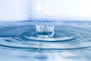 Drops of water falling
