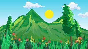 Green Trees In Spring Season video