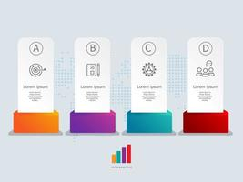abstract label infographics presentation element template with business icons vector