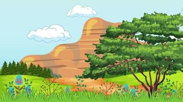 planície verde em um dia de vento video