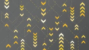 Flechas amarillas abstractas firman sobre fondo oscuro vector