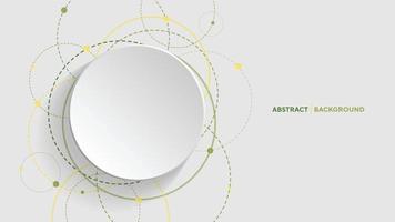 Fondo geométrico abstracto con círculo degradado verde sobre fondo blanco. vector