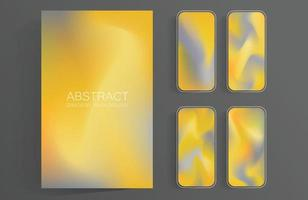 Abstract colorful gradient screens set background for mobile phones and mobile app and tablet vector