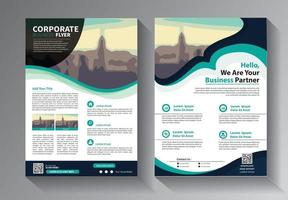 Business abstract vector template. Brochure design, cover modern layout, annual report, poster, flyer in A4 with colorful triangles, geometric shapes for tech, science, market with light background
