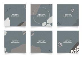 diseño de fondo abstracto para la plantilla de publicación de noticias de redes sociales vector