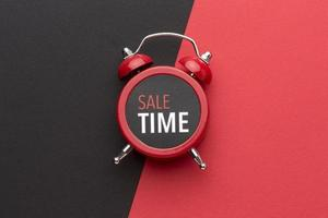 Arrangement of conceptual black friday clock photo
