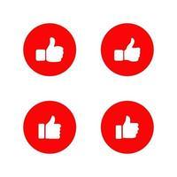 Thumbs up logo design template vector
