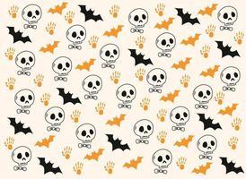 Happy Halloween's cute background pattern vector