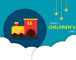 Children's Day With Kid Toy vector