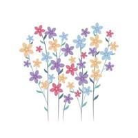 Flowers In A Heart Shape vector