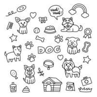 Dog Doodle Elements vector