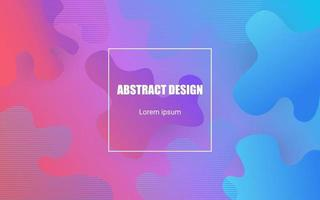 abstract colorful liquid shape vector