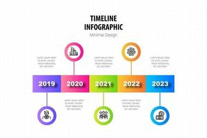 timeline minimal infographic template vector