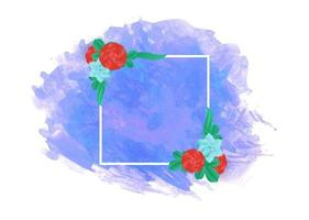 watercolor background with flower frame vector