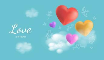 love is in the air banner vector