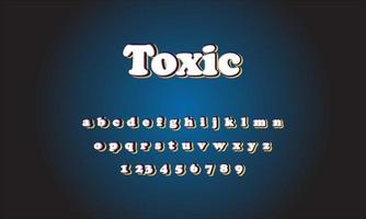 Toxic text alphabet vector