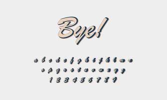 adiós alfabeto de texto vector