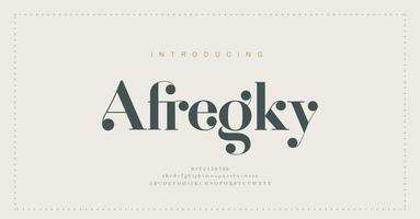 Elegant alphabet letters font and number. Classic Lettering Minimal Fashion Designs. Typography modern serif fonts regular decorative vintage concept. vector