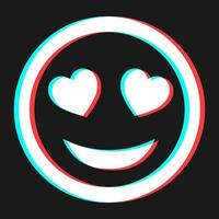 Cartoon smile emoticon symbol, icon in 3d effect with blue and red color vector