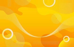 Yellow Fluid Gradient Abstract Background vector