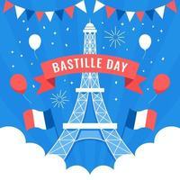 Happy Bastille Day Celebration vector
