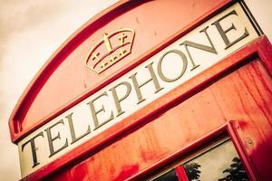 Red telephone box London style photo